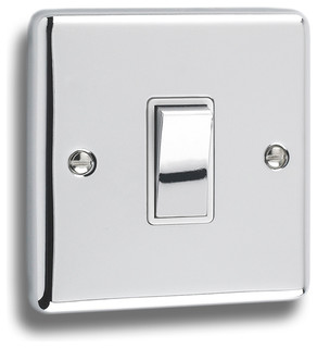Windsor polished chrome switch modern light switches plug sockets other metro by - Modern switches and sockets ...