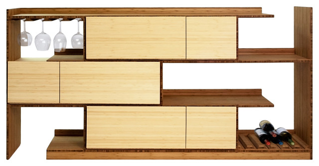 Bamboo Stagger Server - Modern - Buffets And Sideboards - by Brave Space Design