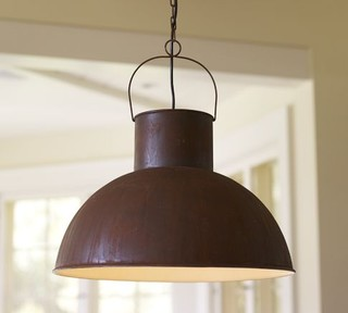 Mansfield Barn Industrial Pendant - Traditional - Pendant Lighting - by Pottery Barn