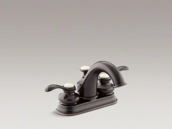 KOHLER Fairfax R Centerset Bathroom Sink Faucet With Lever Handles Contemp