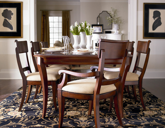 louis philippe dining table by bassett furniture contemporary by