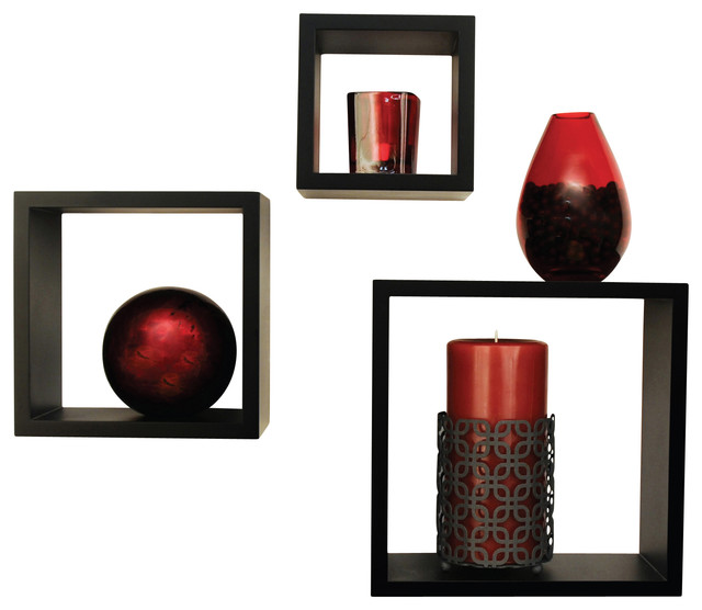 3-Piece Wall Display Cubes - Modern - Footstools And Ottomans - by Pinnacle Frames