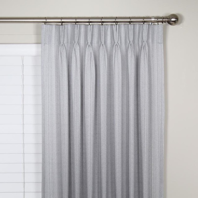 Verona Sheer Pinch Pleat Curtains Contemporary Curtains By