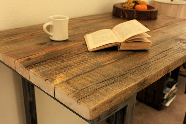 Reclaimed Wood Bar Pub Table - Modern - Indoor Pub And ...
