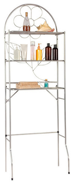 Over The Toilet Bathroom Space Saver, 3 Shelf Etagere - Traditional - Bathroom Cabinets And ...