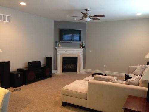 Corner fireplace built-ins