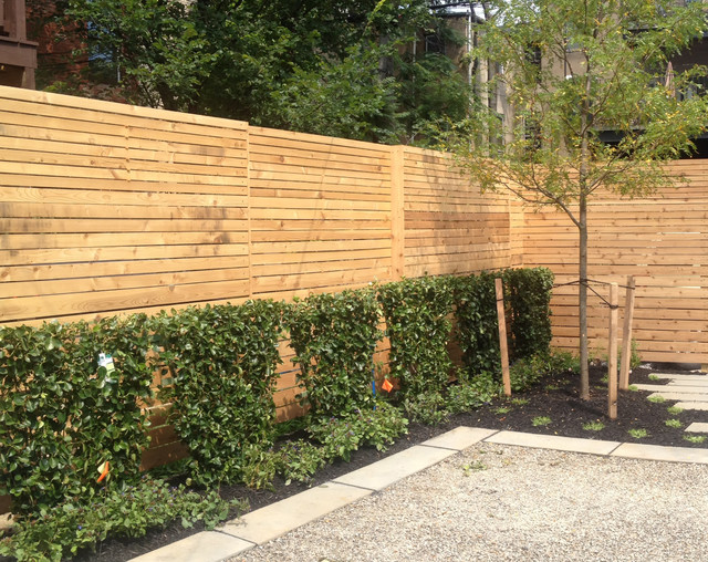 Modern Slat Fence Contemporary Home Fencing And Gates DC Metro By JHLA Jennifer Horn
