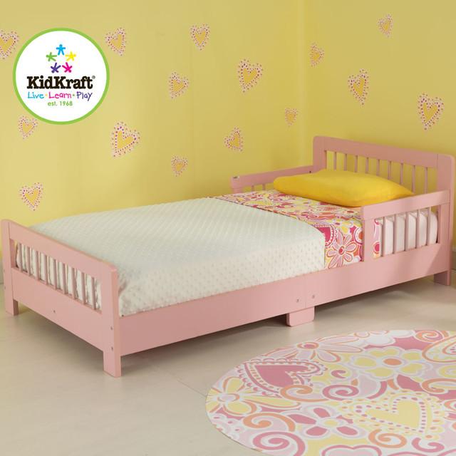 Slatted Toddler Bed In Pink