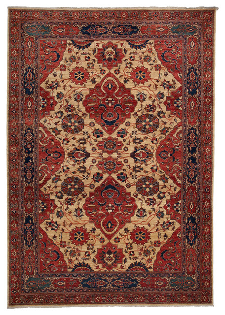 Traditional Wool Area Rug, Red, 8x10 - Traditional - Area Rugs - by ...