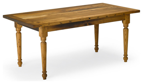 Reclaimed Chestnut Piedmont Table Seats 8 40 X 84 Country Dining Tables By Vermont Farm