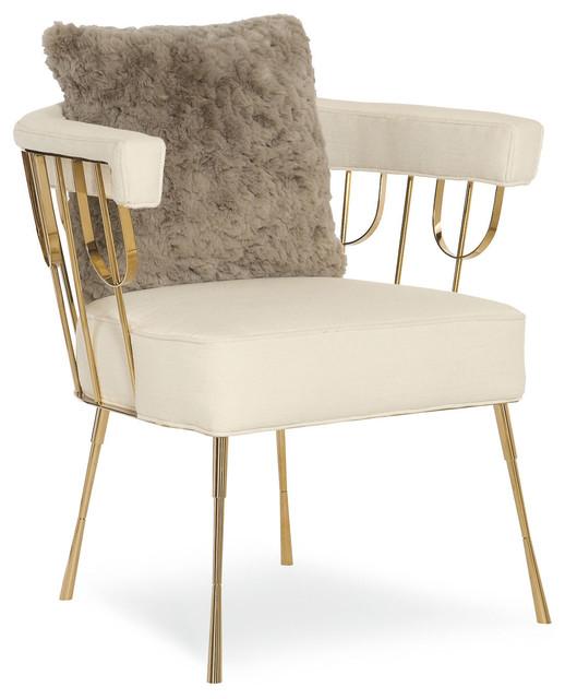 Lena accent chair cream contempor neo sillones y - Sillones contemporaneos ...