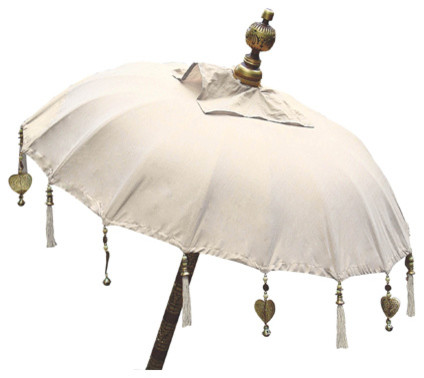 Balinese Umbrella Natural Eclectic Outdoor Umbrellas
