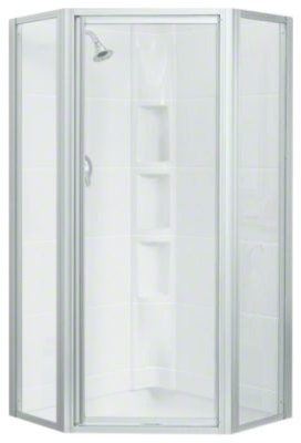 Sterling Intrigue Tm Neo Angle Shower Door Contemporary