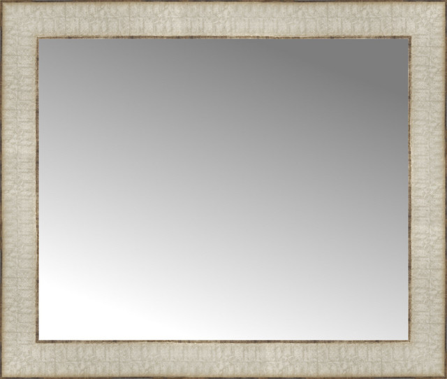 ... Libretto Antique Silver Custom Framed Mirror traditional-wall-mirrors