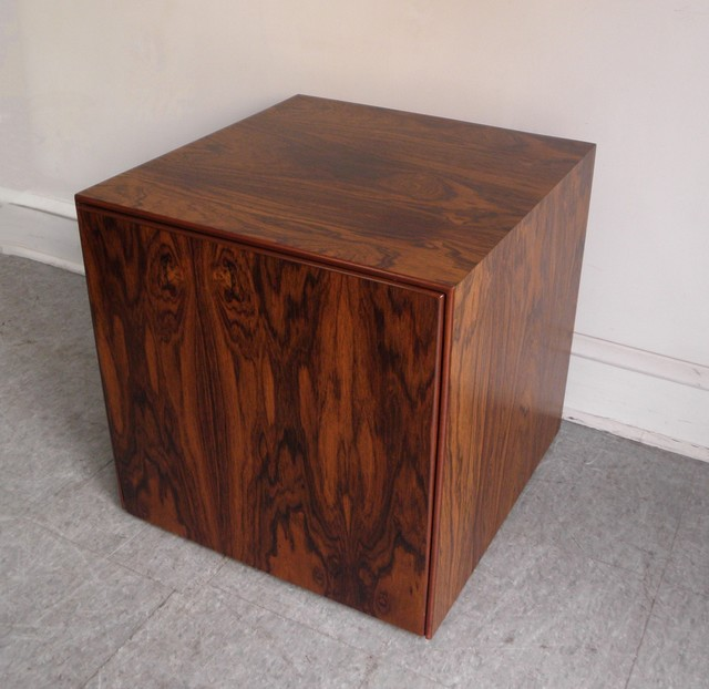 Mid Century Modern Rosewood Storage Cube End Table Modern Furniture Philadelphia By
