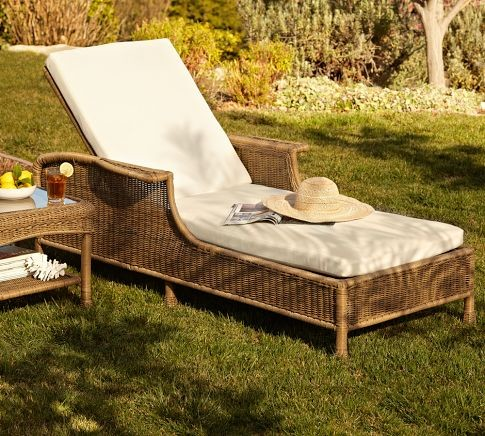 Saybrook all weather wicker single chaise contemporary for All weather wicker chaise lounge
