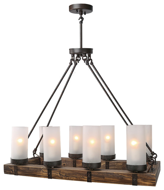 8 Light Kitchen Island Pendant Industrial Kitchen