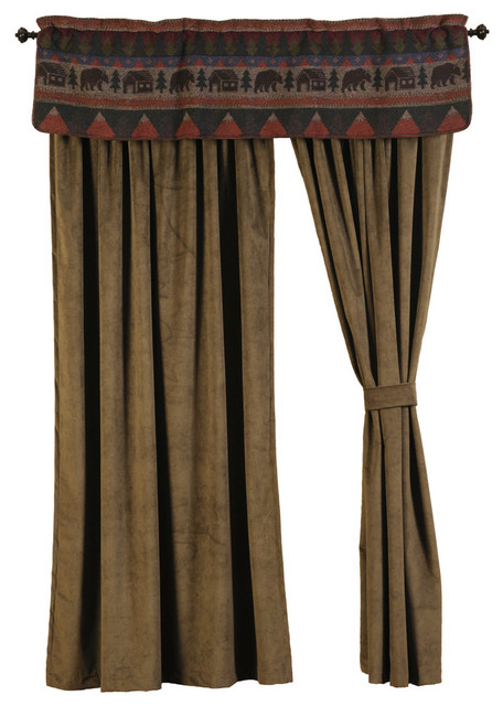 Cabin Bear Drape Set Rustic Curtains By Wooded River Inc