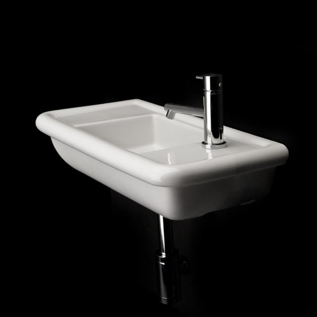 Lacava alia wall mount lav sink modern bathroom sinks for Small contemporary bathroom sinks
