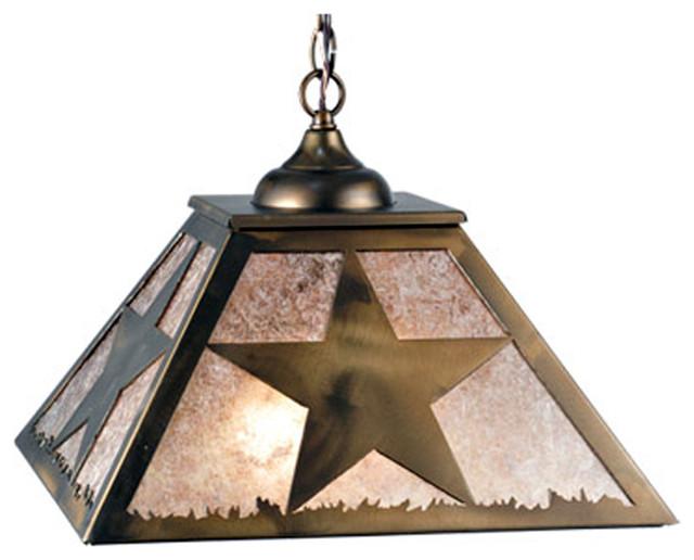 16 Square Texas Star Pendant