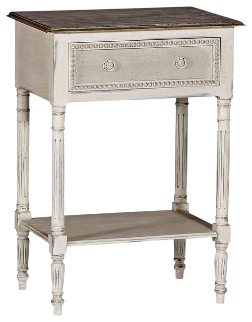 Carine swedish gustavian french delicate side table for French nightstand bedside table