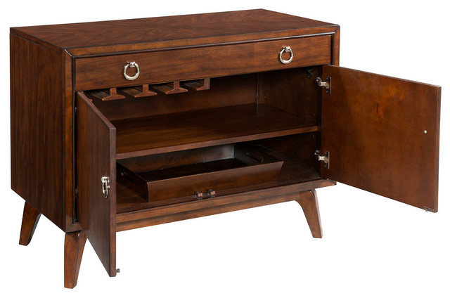 Omni Hospitality Cabinet - Transitional - Wine And Bar Cabinets - by BASSETT MIRROR CO.