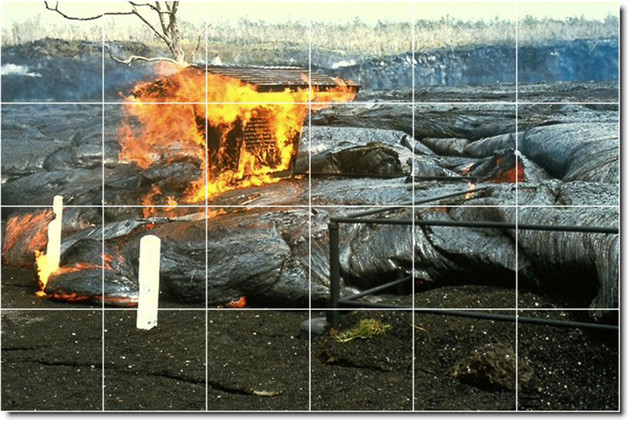 Volcanoes photo custom tile mural 24 traditional tile for Custom photo tile mural