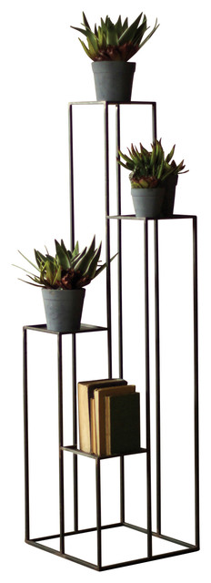 tall multi level iron pedestals transitional plant stands and telephone tables by first of. Black Bedroom Furniture Sets. Home Design Ideas