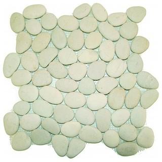 Mosaikfliesen kieselsteine weiss 30x30cm jetzt g nstig kauf for Kieselsteine baumarkt