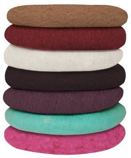 Modern Felt Pillows : Round Felt Cushions - Modern - Decorative Pillows - by canvas