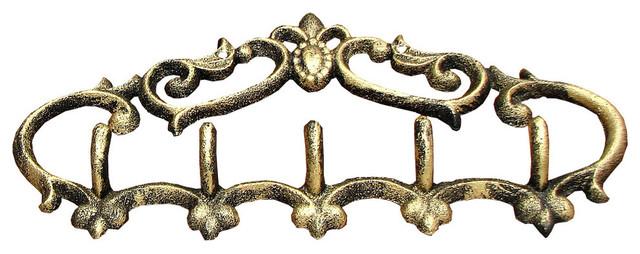 Fleur de lis cast iron coat hook modern wall hooks by imtinanz llc - Fleur de lis coat hook ...