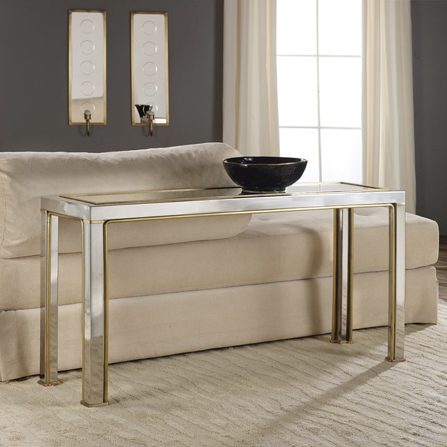 Modern History Home Transitional Metal Console