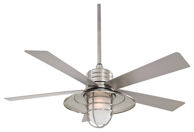 Minka Aire F582 Bnw Rainman Brushed Nickel 54 Quot Outdoor