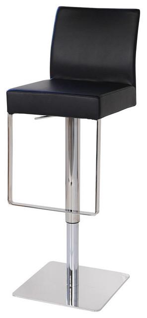 Marcelo Hydraulic Leather Bar Stool Black Midcentury  : midcentury bar stools and counter stools from www.houzz.com size 296 x 640 jpeg 23kB