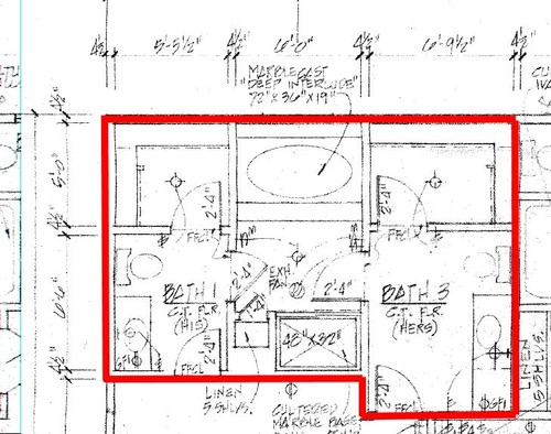 Master bathroom laundry room renovation layout help for Room layout help
