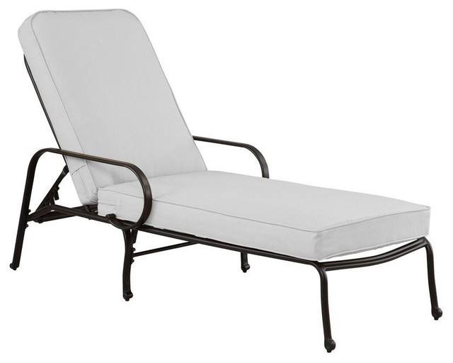 Hampton Bay Chaise Lounges Fall River Adjustable Patio Chaise Lounge with Bar