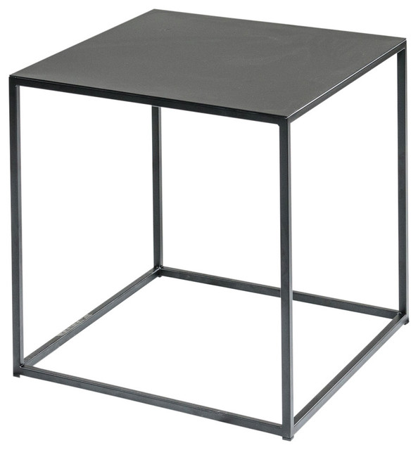 Black Metal Cube, Side Table, 17u0026quot; - Contemporary - Side ...