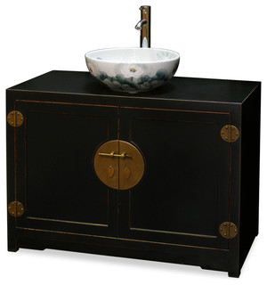 Elmwood Ming Style Vanity Cabinet - Asian - Bathroom Vanities And Sink Consoles - by China ...