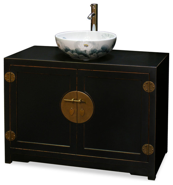 Elmwood Ming Style Vanity Cabinet - Asian - Bathroom ...
