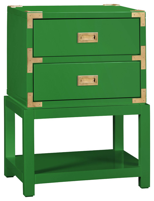 Bungalow 5 Tansu 2-Drawer Green Side Table modern-side-tables-and-end-tables