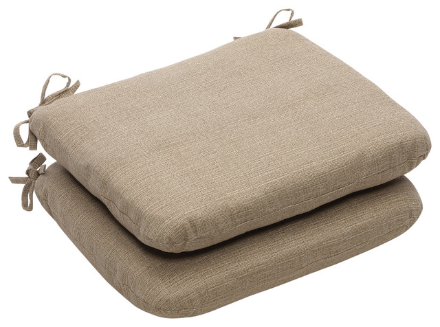 Monti Taupe Rounded Corners Seat Cushion, Set of 2 - Scandinavian - Outdoor Cushions And Pillows ...