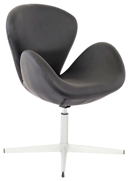 Swan Black Leatherette Adjustable Chair Contemporary