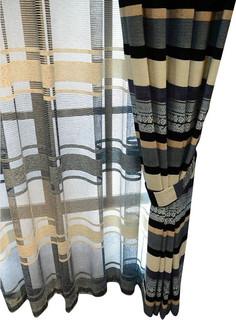 luxury window curtain kenneth bauhaus look gardinen. Black Bedroom Furniture Sets. Home Design Ideas