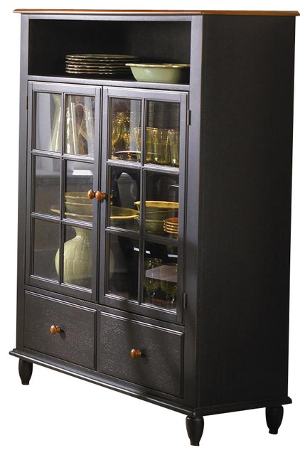 Low Country Curio Cabinet, Anchor Black - Traditional - Buffets And Sideboards