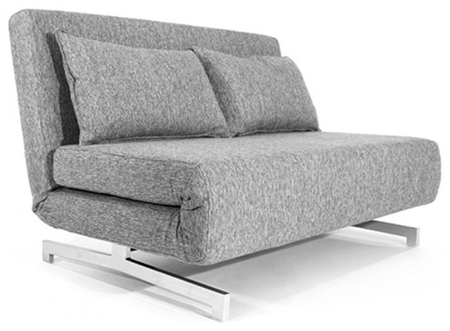 canap convertible design tissu gris 120 cm. Black Bedroom Furniture Sets. Home Design Ideas
