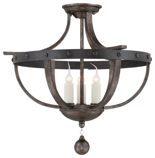 Rustic Reclaimed Kitchen Light Fixtures Flush Mount