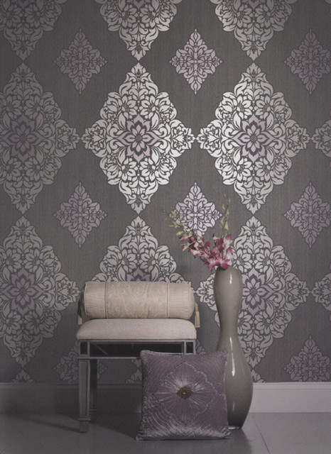 Damask wallpaper contemporary other metro by american blinds wallpaper and more - American tin tiles wallpaper ...