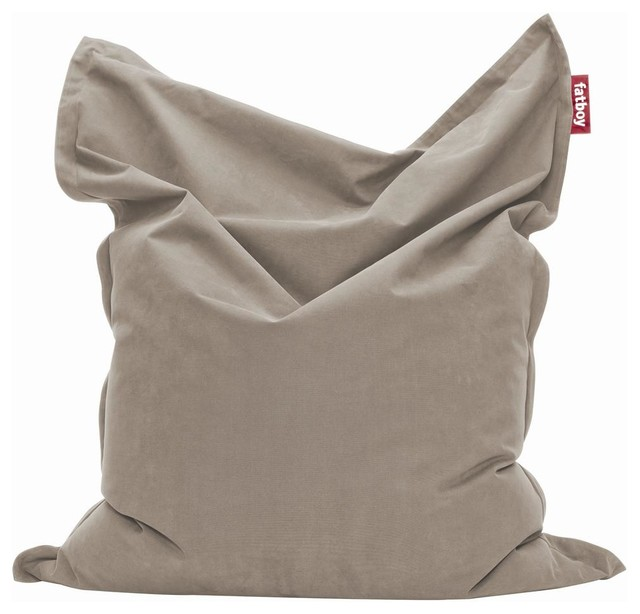 bean bag in taupe contemporary bean bag chairs by. Black Bedroom Furniture Sets. Home Design Ideas