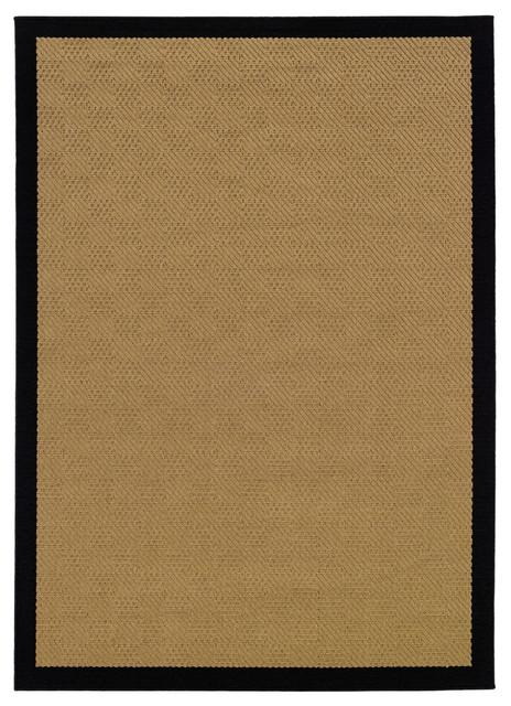 newcastle home malibu indooroutdoor rug beige and black 73
