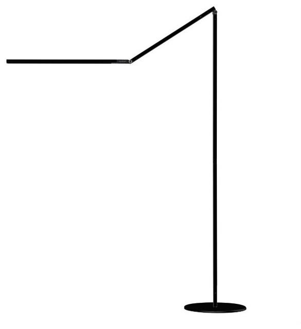 Z-Bar Floor LED Lamp, Black, Warm Light